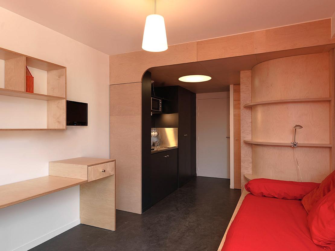 maison des tudiants et cit galil e h rault arnod architectures. Black Bedroom Furniture Sets. Home Design Ideas
